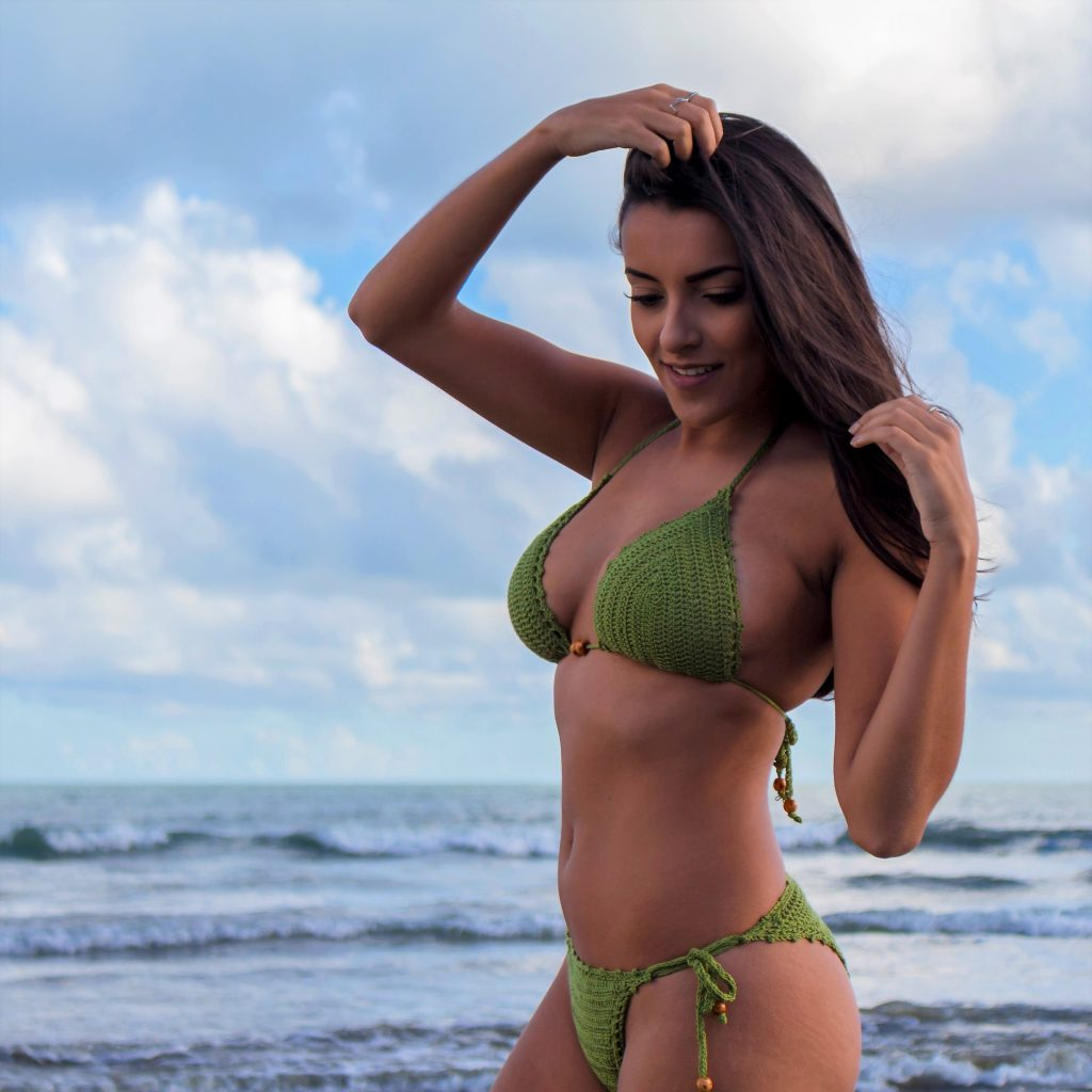 Crochet Bikini Pattern by crochet designer Roseanna Murray of Moara Crochet