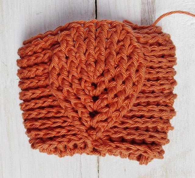 Free Crochet Pattern Leaf Soap Saver - Row. 11