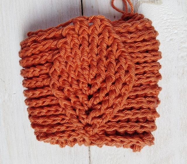 Free Crochet Pattern Leaf Soap Saver - Row. 12