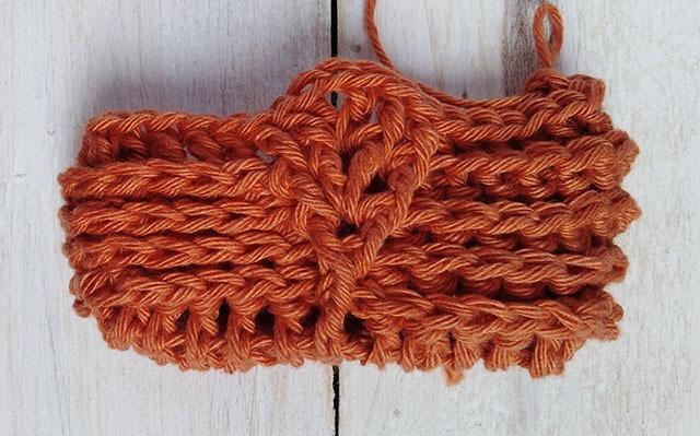 Free Crochet Pattern Leaf Soap Saver - Row. 5