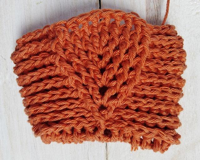 Free Crochet Pattern Leaf Soap Saver - Row. 9