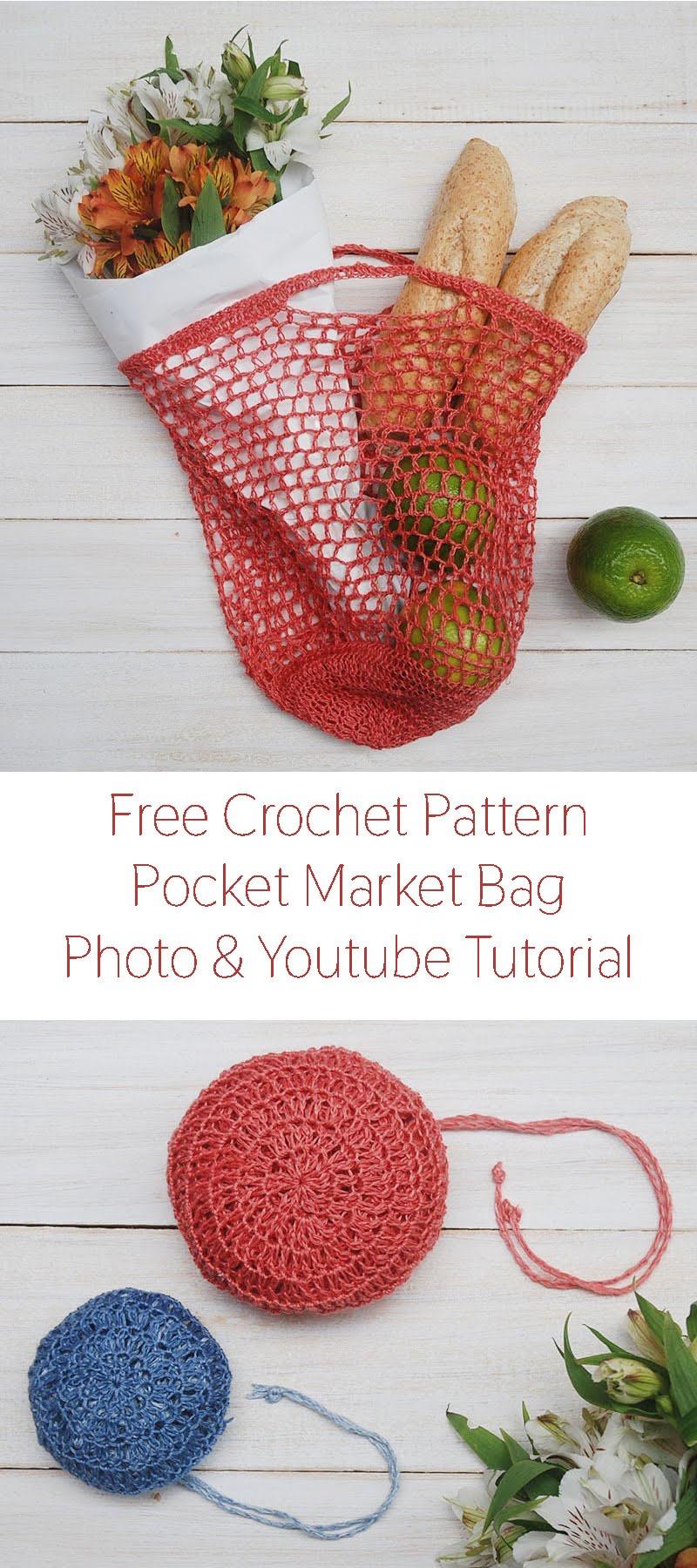 Crochet Market Bag Pattern by Moara Crochet