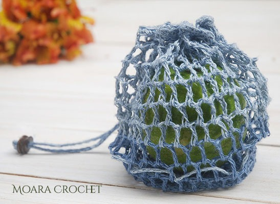 Crochet Fruit Bag Pattern by Moara Crochet