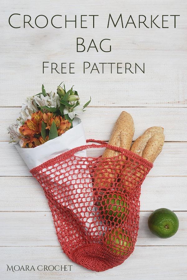 Crochet Market Bag Free Pattern - Moara Crochet - Free Crochet Patterns