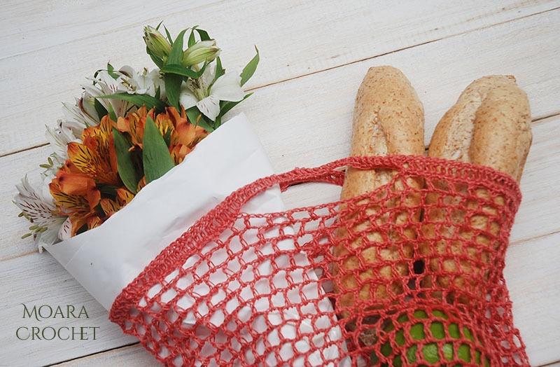 Crochet Market Bag Pattern - Moara Crochet