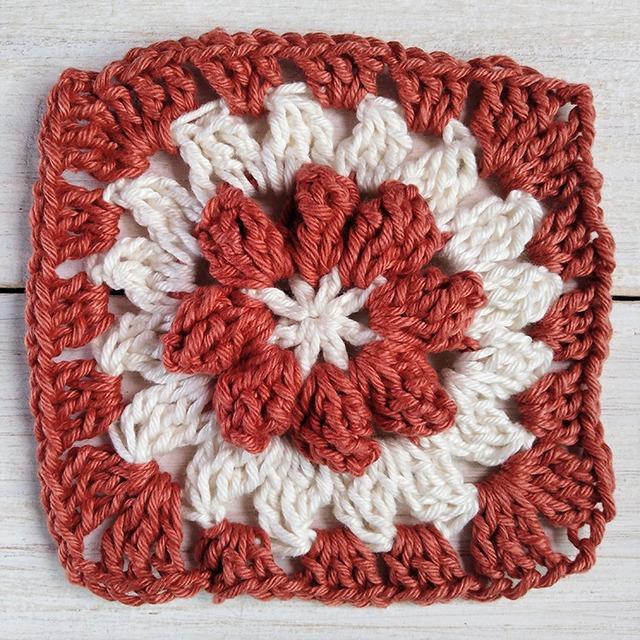 Crochet Granny Square row 4 Moara Crochet