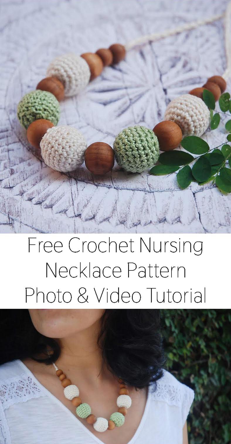 Crochet Nursing Necklace Pattern - Crochet Conscious - Moara Crochet