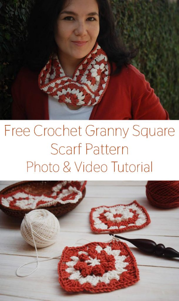 How to Crochet a Granny Square Scarf from Moara Crochet