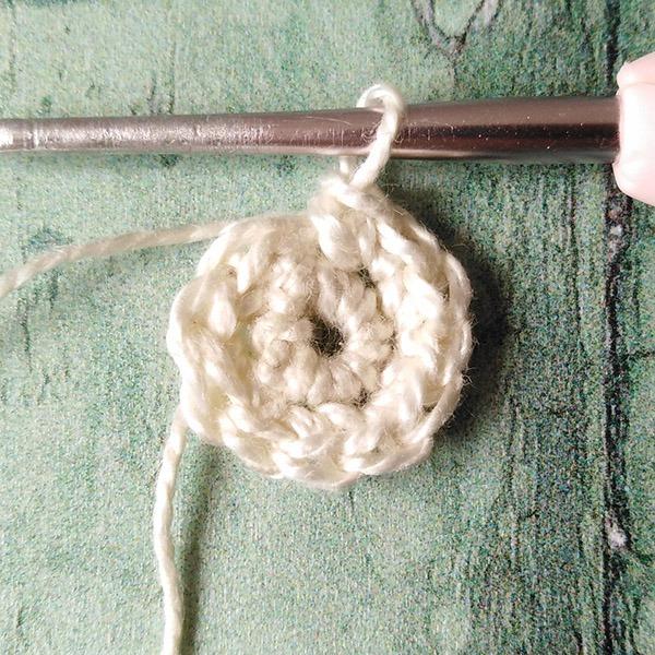 Row 2 Crochet Bead tutorial Moara Crochet