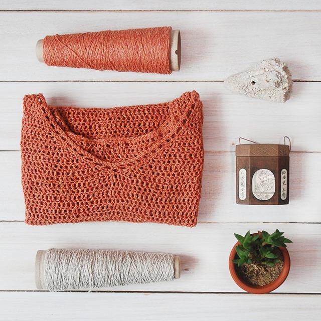 Crochet Flatlay with Ito Kinu Yarn Review by Moara Crochet