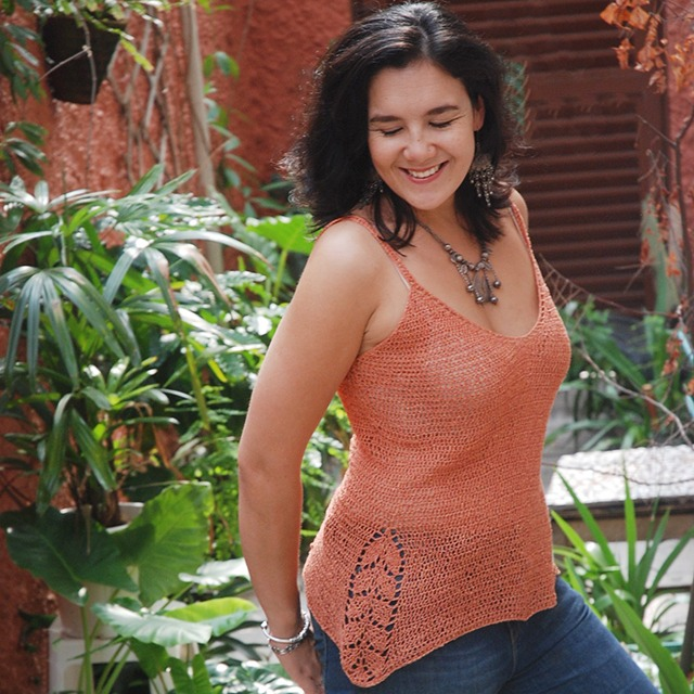 Crochet Silk Cami by Roseanna Murray of Moara Crochet