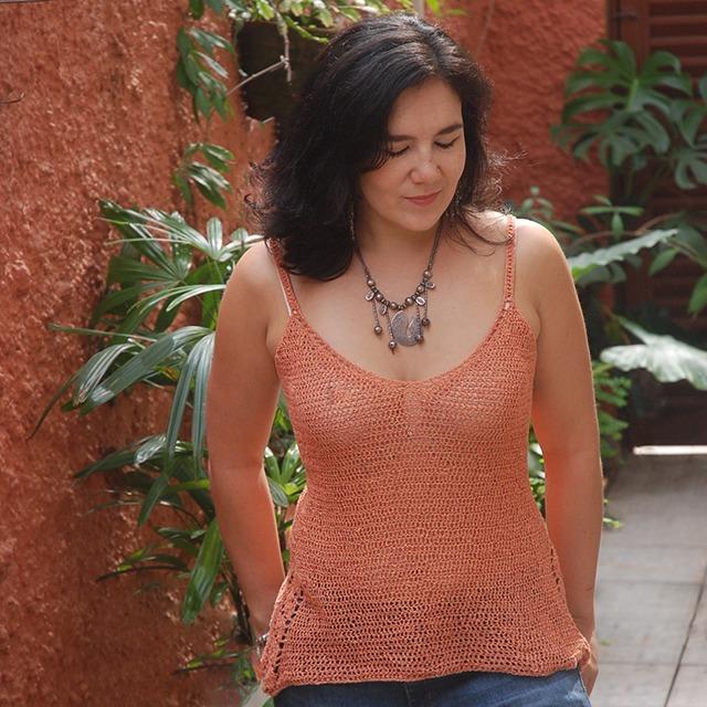 Crochet Silk Top by Roseanna Murray of Moara Crochet