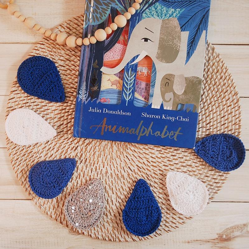 Blue Crochet Droplet Garland Pattern - Free crochet pattern with Moara Crochet