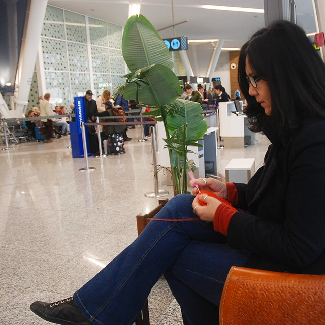 Can you Crochet on a flight with Moara Crochet Blog