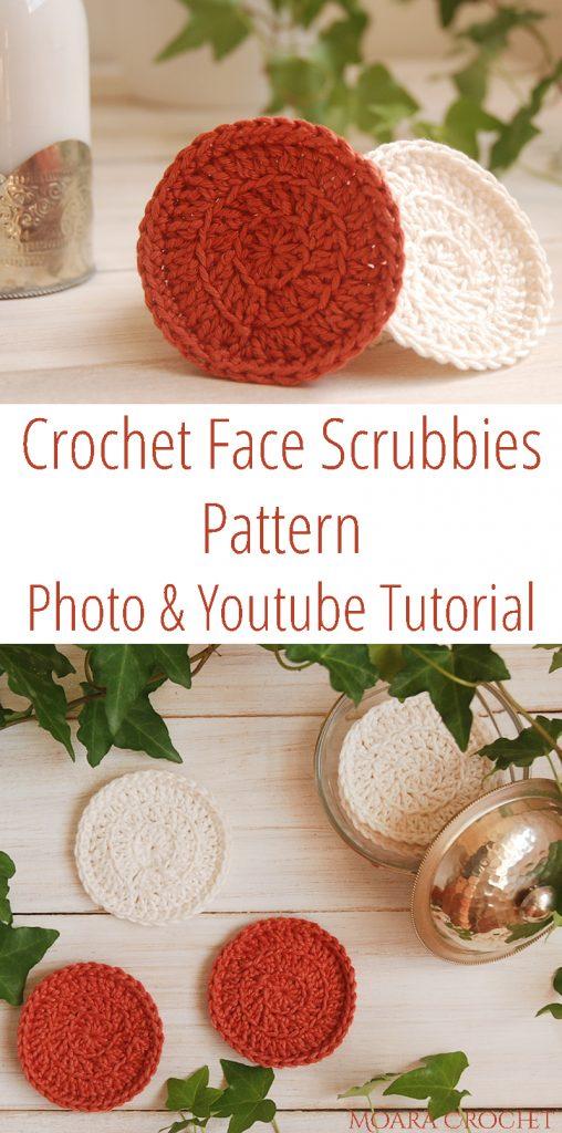 Crochet Face Scrubbie Free Tutorial - Moara Crochet