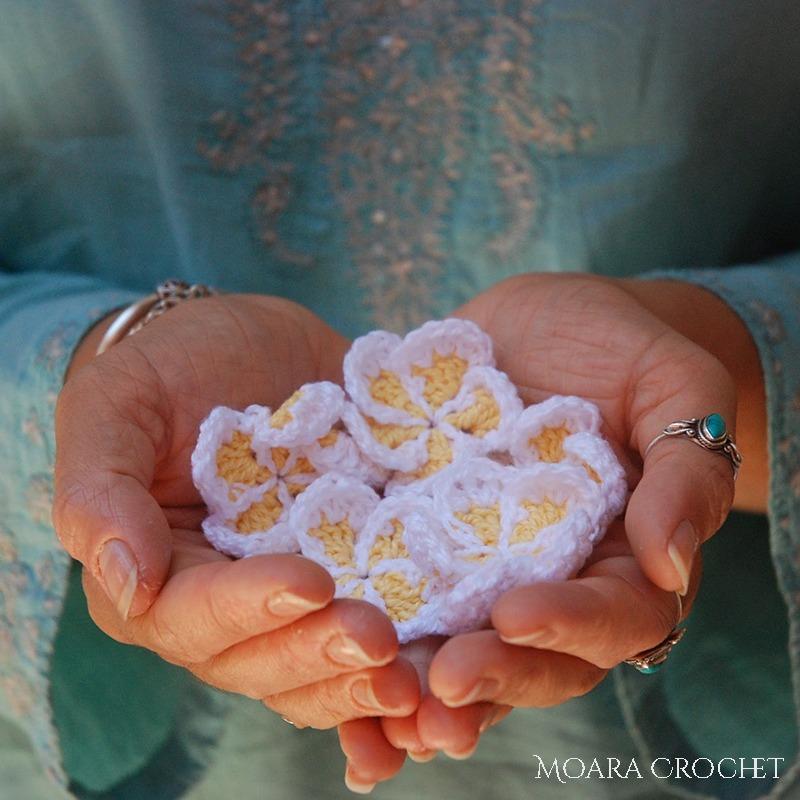 Crochet Frangipani Flower Free Pattern - Moara Crochet