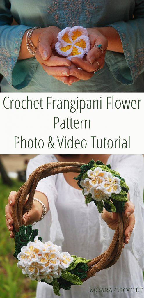 Crochet Frangipani Flower Pattern Free - Moara Crochet