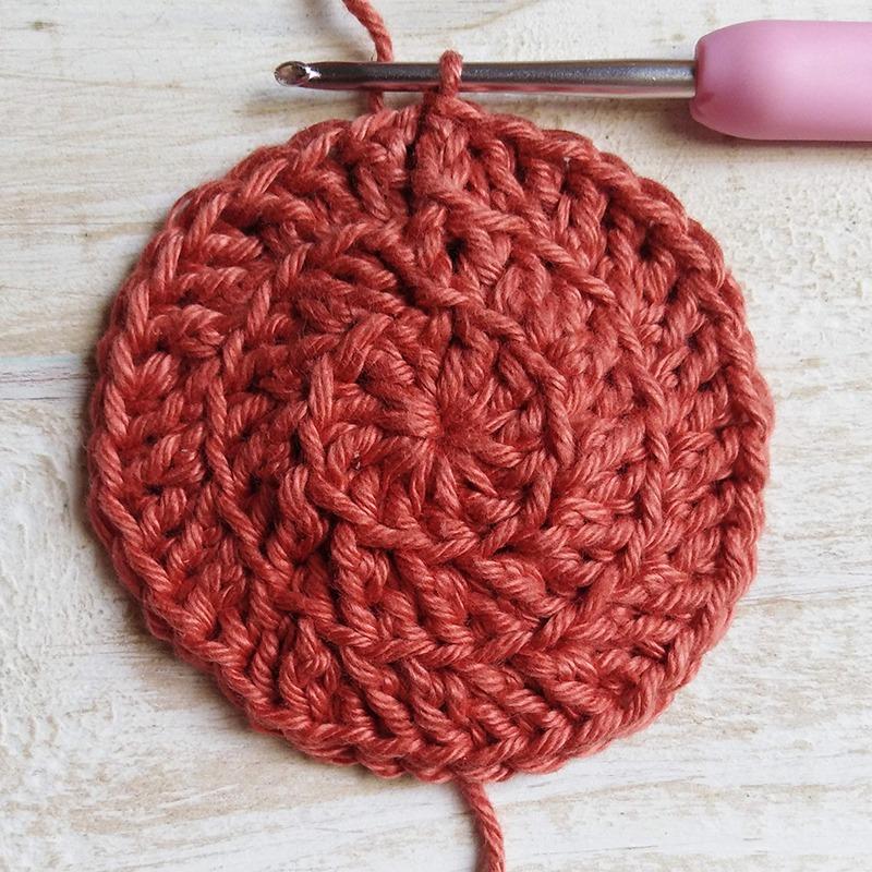 Free Crochet Pattern - Face Scrubbie Row 3- Moara Crochet