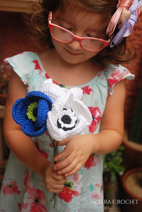 Crochet Anemone Free Pattern with Moara Crochet blog