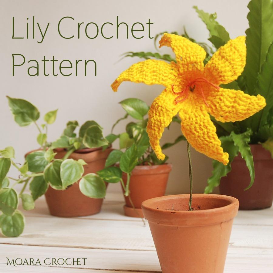 Crochet Lily Pattern - Moara Crochet