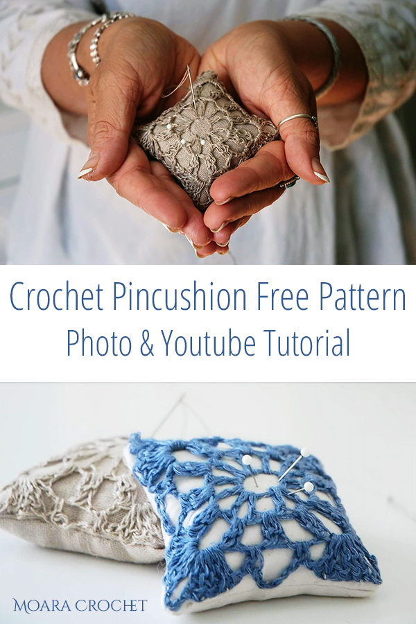 Crochet Pincushion Free Pattern - Moara Crochet