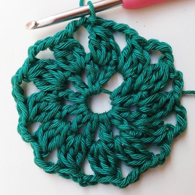 Crochet Pincushion - Row 2- Moara Crochet