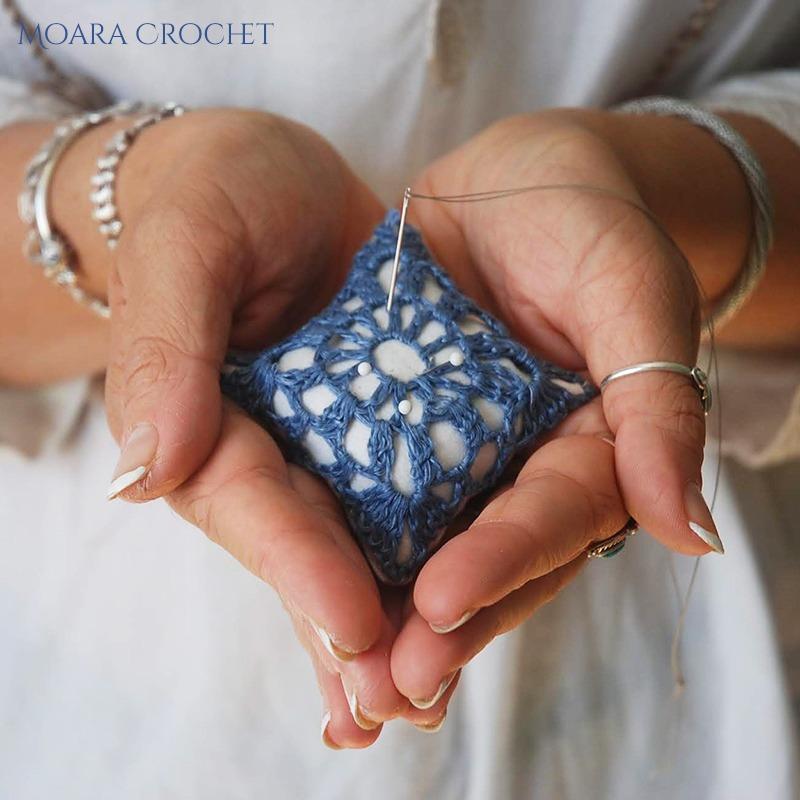 Crochet pincushion Tutorial with Moara Crochet Free Pattern