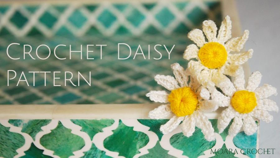 Daisy Crochet Flower Pattern - Moara Crochet