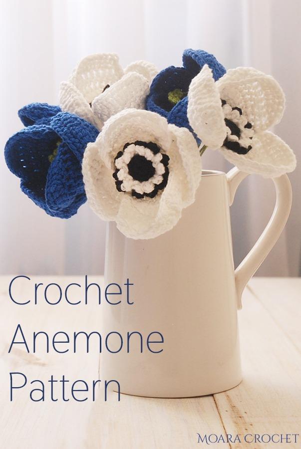 Free Crochet Anemone Flower Pattern - Moara Crochet