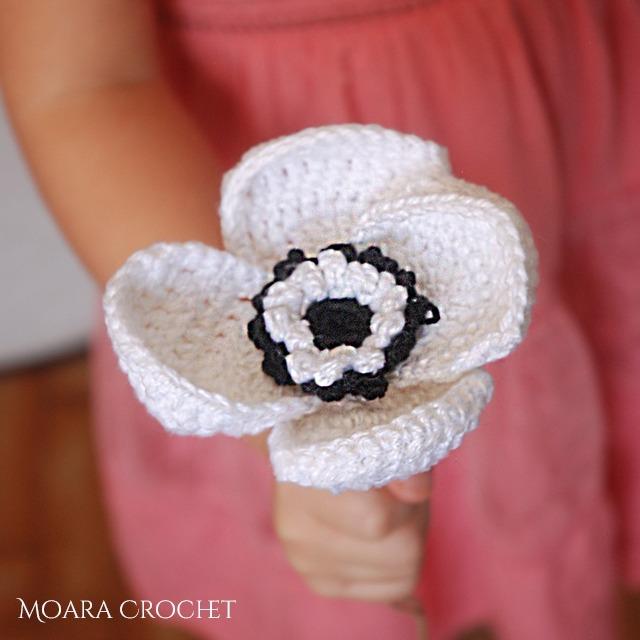 Free Crochet Flower Pattern - Moara Crochet