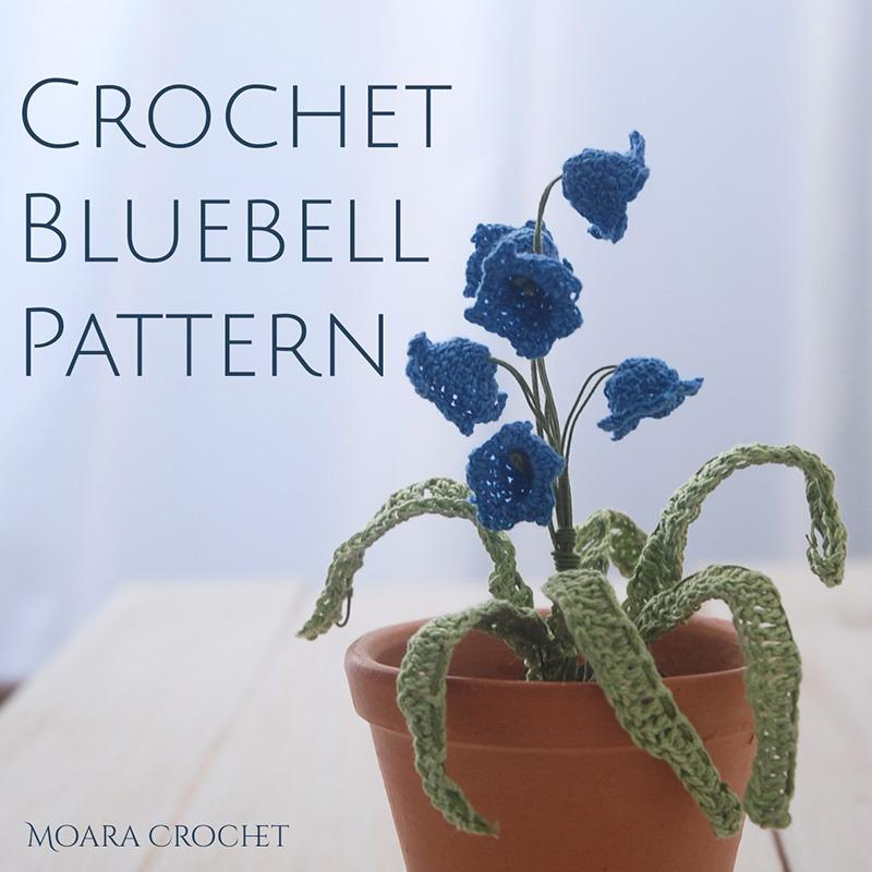 Crochet Bluebell Pattern - Moara Crochet - Free Crochet Flowers