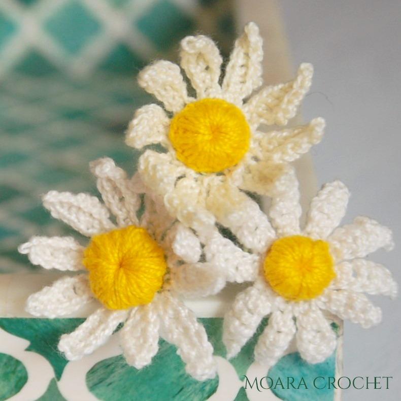 Crochet Daisy Pattern - Free Crochet Flower patterns - Moara Crochet