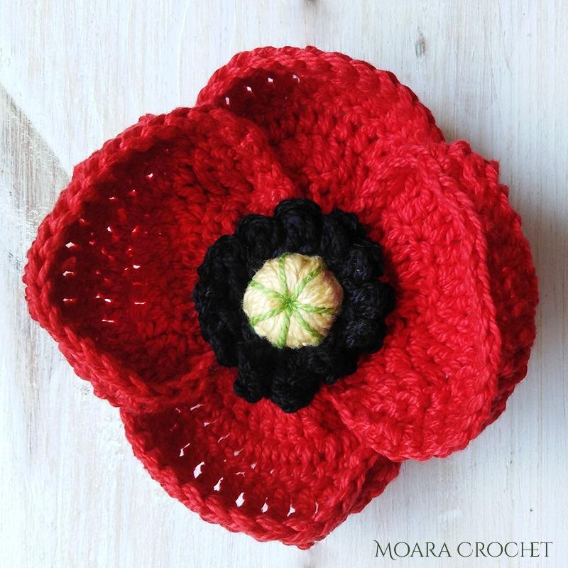 Crochet Poppy Flower with Moara Crochet
