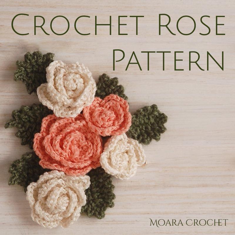 Crochet Rose Pattern - Free Crochet Flower - Moara Crochet