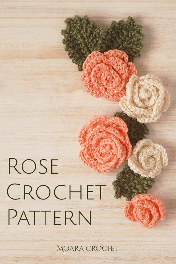 Easy Crochet Rose Pattern - Moara Crochet