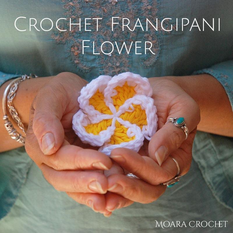 Free Crochet Flower Pattern - Frangipani Flower Moara Crochet