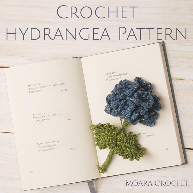 Free Crochet Flower Patterns -Hydrangea Flower - Moara Crochet