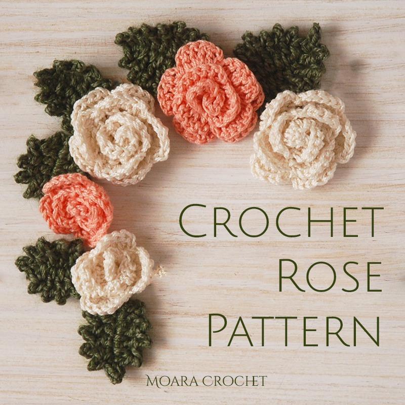 Free Crochet Rose Flower Pattern - Moara Crochet