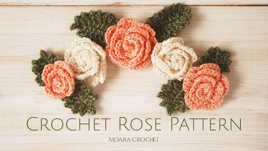 Free Crochet Rose Pattern - Moara Crocht