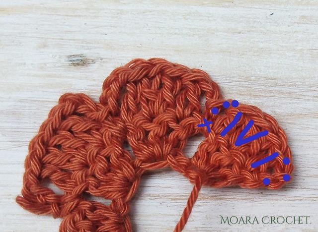 Rose - Row 2 - Moara Crochet