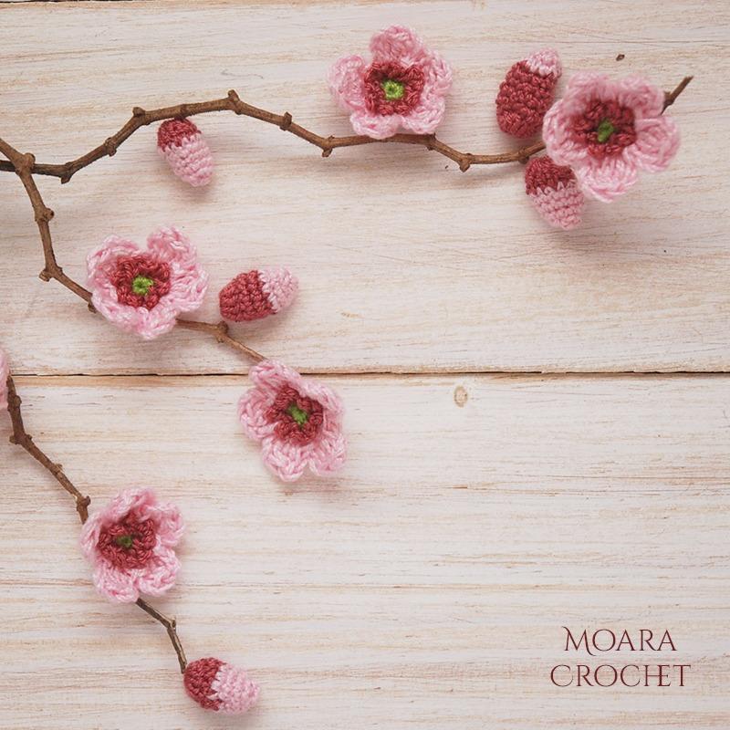 Cherry Blossom Buds - Moara Crochet