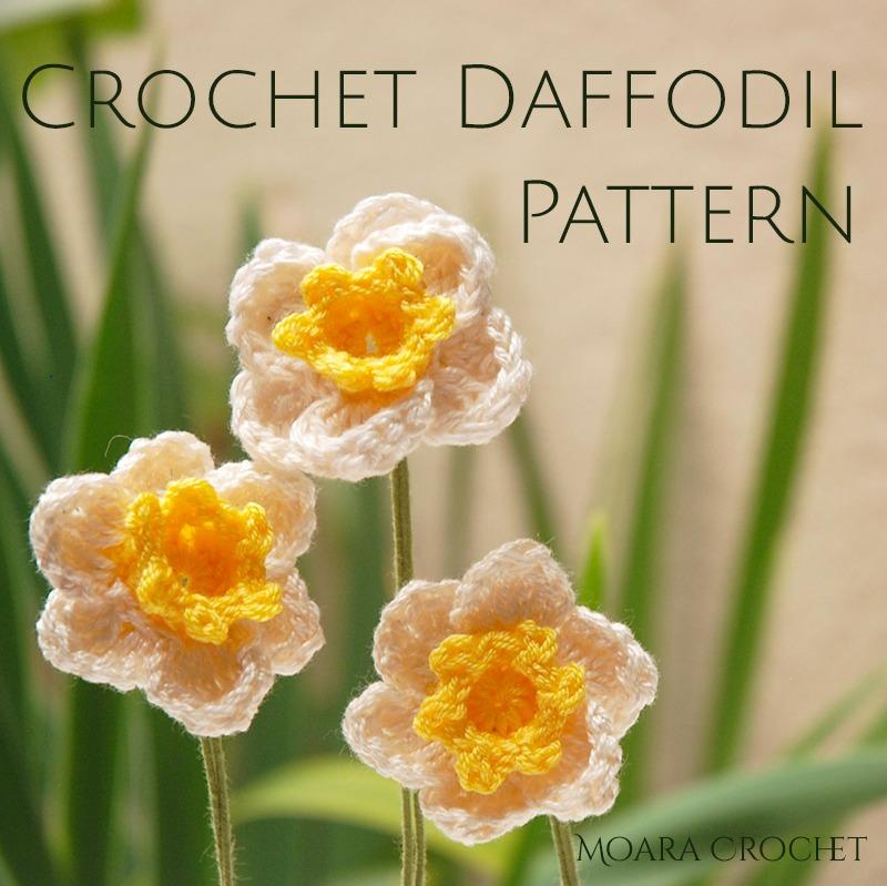 Crochet Daffodil Free Pattern - Moara Crochet