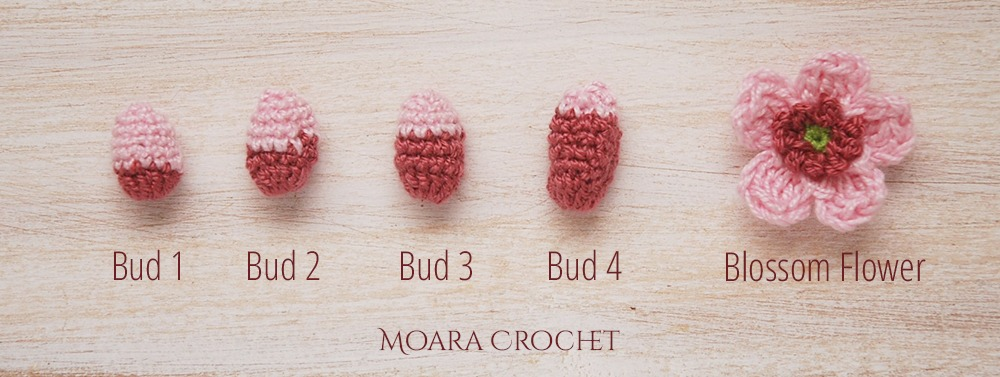 Crochet Flower Bud Pattern - Moara Crochet