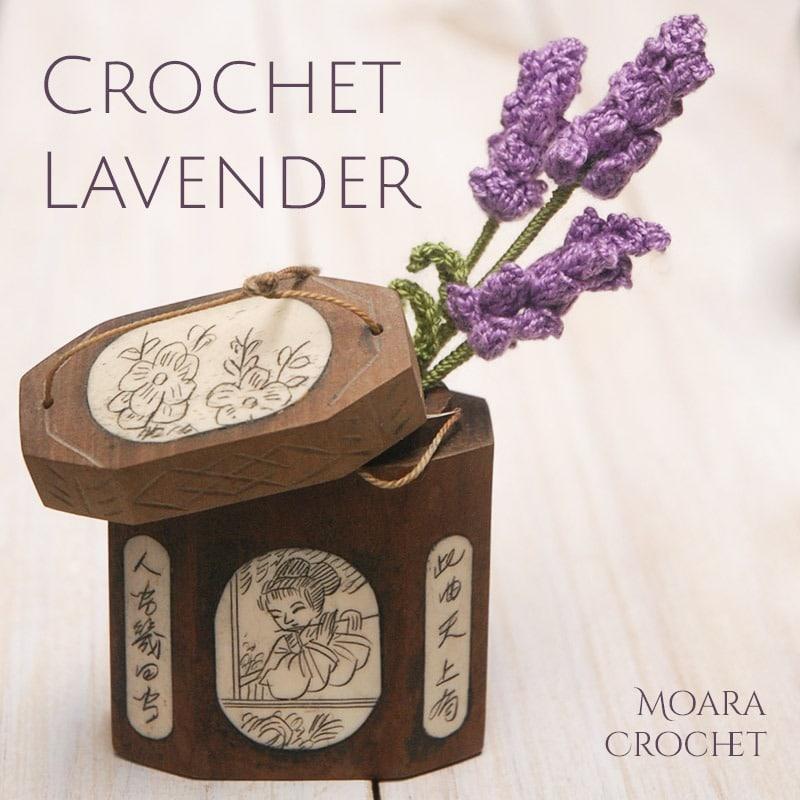 Crochet Lavender - Free Crochet Flower Patterns with Moara Crochet