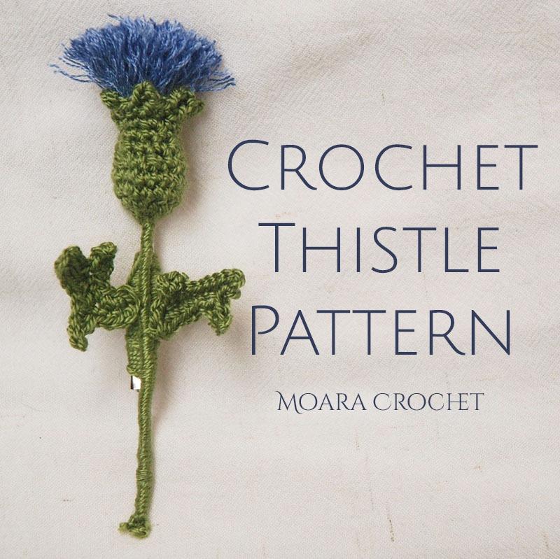 Crochet Thistle Pattern - Moara Crochet