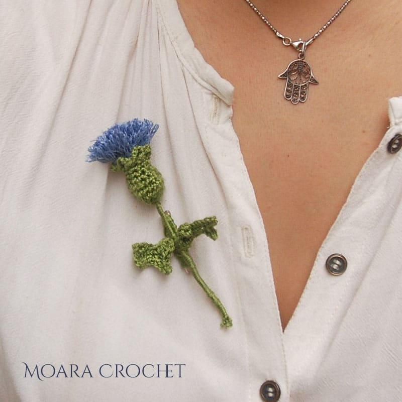 Free Crochet Flower Patterns from Moara Crochet - Crochet Thistle