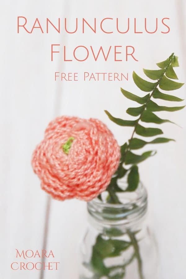 Free Crochet Flower patterns - Crochet Ranunculus - Moara Crochet