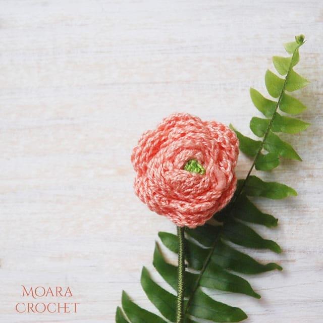 Free Crochet Flower patterns Ranunculus - Moara Crochet