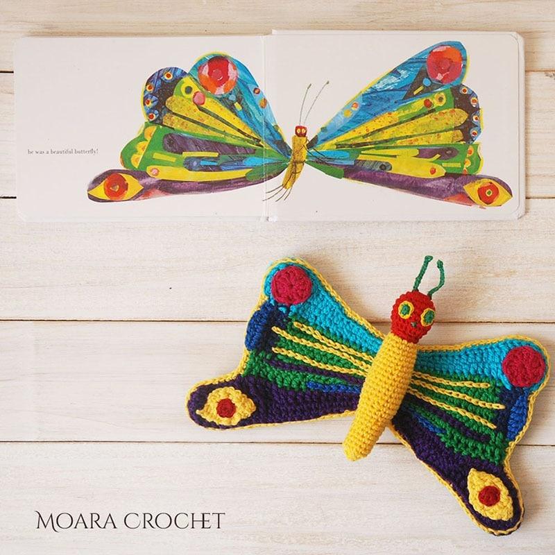 Hungry Caterpillar Butterfly Pattern - Moara Crochet