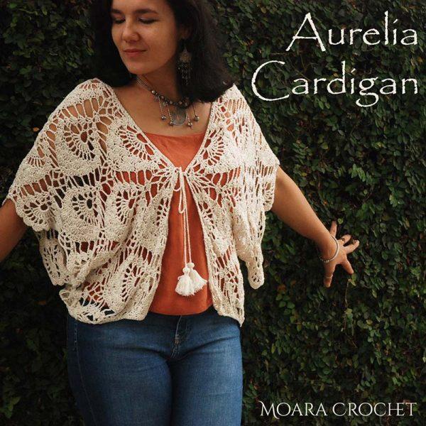 Aurelia Crochet Cardigan Pattern - Moara Crochet